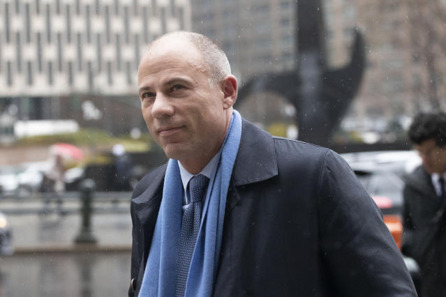 California attorney Michael Avenatti arrives at federal court on Dec. 17 in New York to enter a plea to an indictment charging him with trying to extort up to $25 million from Nike. (AP Photo/Mark Lennihan)