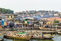 """#DecemberInGhana as it's becoming known is a super festive time of the year,"" says Cherae Robinson, founder of Tastemakers Africa, who runs <a href=""https://tastemakersafrica.com/group-trip/accra/december-in-ghana"" rel=""nofollow noopener"" target=""_blank"" data-ylk=""slk:an annual group trip to Ghana"" class=""link rapid-noclick-resp"">an annual group trip to Ghana</a> at the end of each year. ""Small business owners bank their entire earnings on what happens in December and anybody who's anybody descends on Accra during the holiday season."" From the <a href=""https://www.cntraveler.com/story/how-to-plan-your-trip-to-afrochella-festival-in-accra-ghana?mbid=synd_yahoo_rss"" rel=""nofollow noopener"" target=""_blank"" data-ylk=""slk:Afrochella festival"" class=""link rapid-noclick-resp"">Afrochella festival</a> to beach club pop-ups, Robinson says that getting the read on the events and snagging tickets can take time—and a seasoned expert—so it's important to plan ahead and book your hotel early, too, especially if you're coordinating with a group of travel buddies."