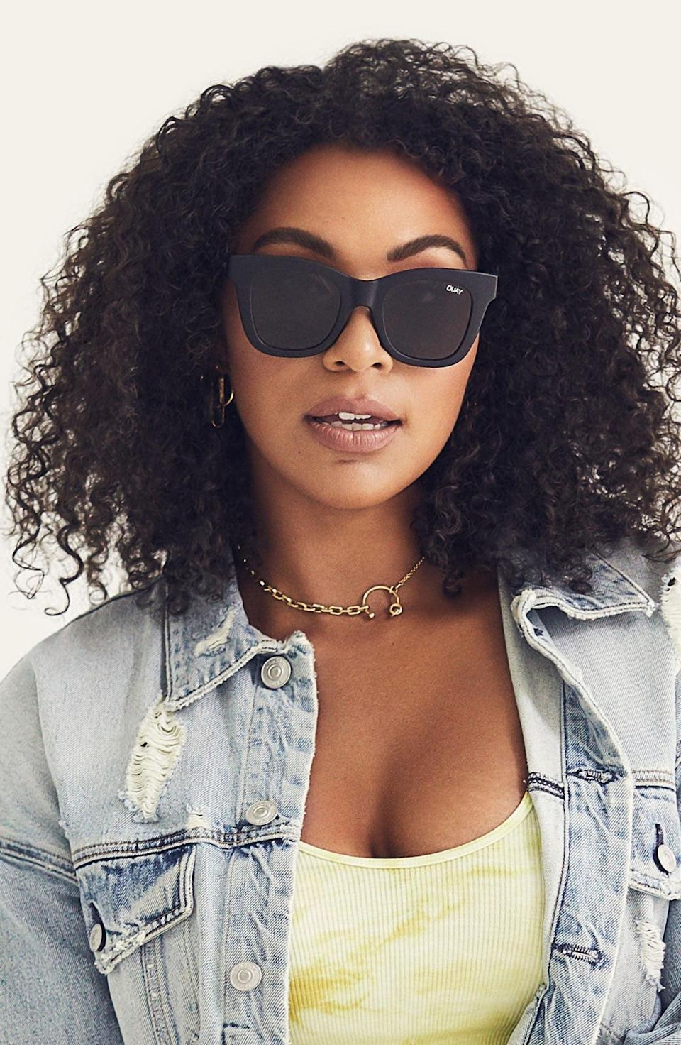 <p>Sometimes, you want a big lens. Maybe you've had a long night out, maybe it's super sunny, and maybe you just like the style. Block out the haters with these big <span>Quay Australia After Hours Square Sunglasses</span> ($55).</p>