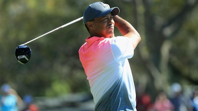 American star Tiger Woods rallied to be seven strokes off the pace at the halfway stage of the Arnold Palmer Invitational.