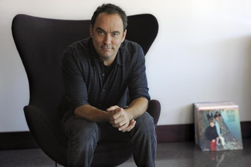 """FILE - In this Aug. 24, 2012 file photo, Dave Matthews poses for a portrait at Capitol Records in Los Angeles. The Dave Matthews Band's new album, """"Away From the World"""" releases Sept. 11, 2012. (Photo by Chris Pizzello/Invision/AP, File)"""