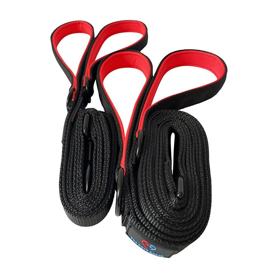 """<p>This leash is designed with two handles, so couples can walk the dog together.</p> <p><strong>Buy it!</strong> Love Leash Set, $59.99; <a href=""""https://theloveleash.com/products/love-leash-set"""" rel=""""nofollow noopener"""" target=""""_blank"""" data-ylk=""""slk:TheLoveLeash.com"""" class=""""link rapid-noclick-resp"""">TheLoveLeash.com</a></p>"""