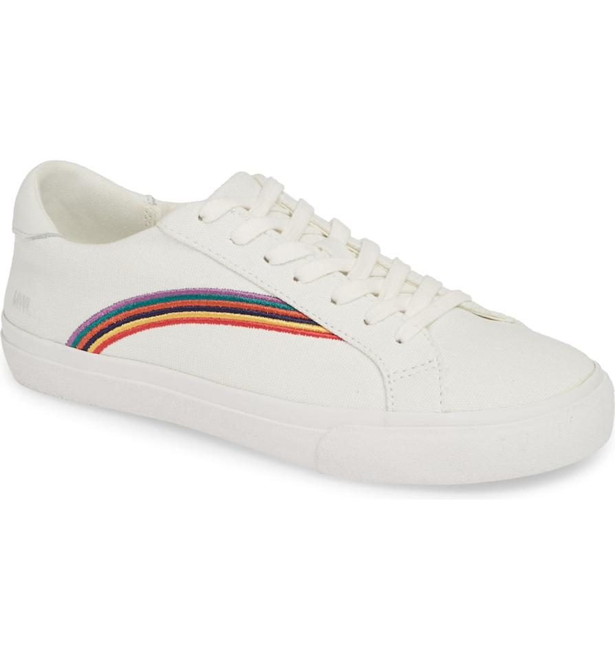 """<p>Our editors have heart eyes for these <a href=""""https://www.popsugar.com/buy/Madewell%20Delia%20Rainbow%20Sneakers-414875?p_name=Madewell%20Delia%20Rainbow%20Sneakers&retailer=shop.nordstrom.com&price=68&evar1=fab%3Aus&evar9=44311634&evar98=https%3A%2F%2Fwww.popsugar.com%2Ffashion%2Fphoto-gallery%2F44311634%2Fimage%2F46171893%2FMadewell-Delia-Rainbow-Sneakers&prop13=mobile&pdata=1"""" rel=""""nofollow"""" data-shoppable-link=""""1"""" target=""""_blank"""" class=""""ga-track"""" data-ga-category=""""Related"""" data-ga-label=""""https://shop.nordstrom.com/s/madewell-delia-rainbow-sneaker-women/5166408?origin=category-personalizedsort&amp;breadcrumb=Home%2FWomen%2FShoes%2FSneakers%20%26%20Athletic&amp;color=rainbow%20multi%20white"""" data-ga-action=""""In-Line Links"""">Madewell Delia Rainbow Sneakers</a> ($68).</p>"""