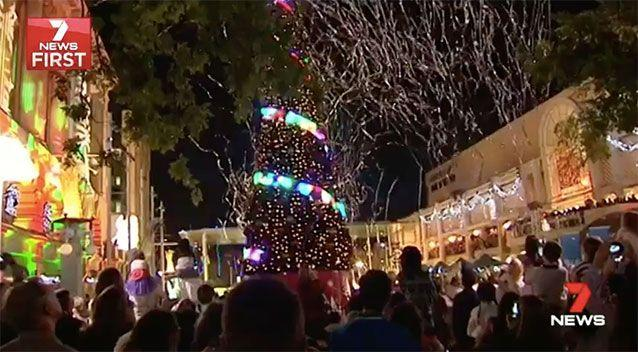 The turning on of Christmas lights has been cancelled by the City of Perth. Source: 7 News