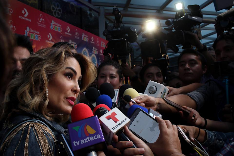 MEXICO CITY, MEXICO - MAY 09: Actress Ninel Conde speaks to the media during the show  'Distroller, El Musikul' at Foro Chapultepec on May 9, 2019 in Mexico City, Mexico. (Photo by Adrián Monroy/ Medios y Media/Getty Images)