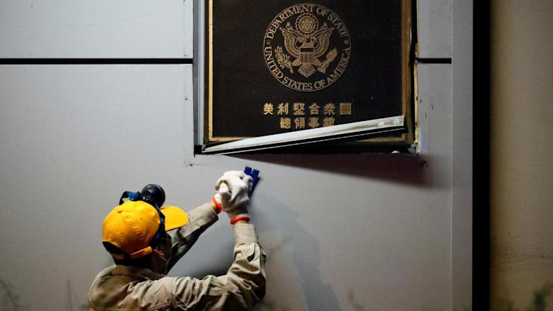 Chinese authorities close US consulate in Chengdu amid rising tensions