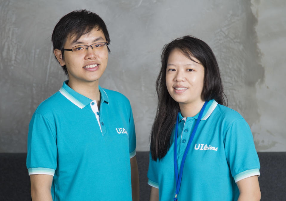 UI-licious' co-founders, chief technology officer Eugene Cheah (left) and chief executive officer Shi Ling Tai (right)