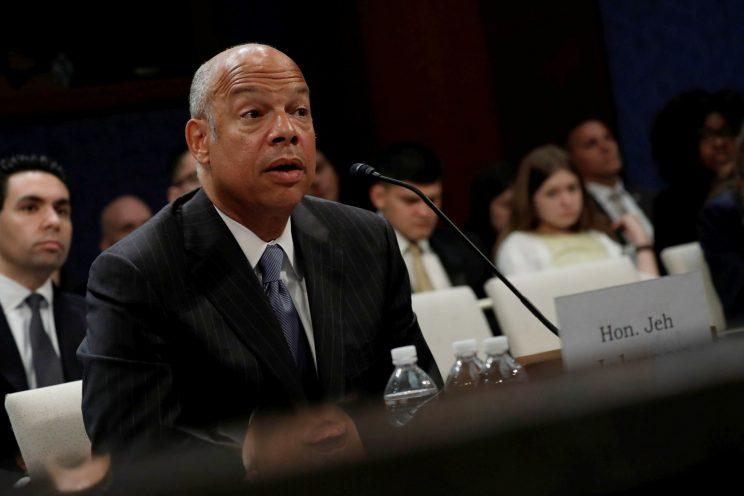 Former U.S. Secretary of Homeland Security Jeh Johnson testifies about Russian meddling in the 2016 election before the House Intelligence Committee on Capitol Hill in Washington, U.S., June 21, 2017. (Photo: Aaron P. Bernstein/Reuters)