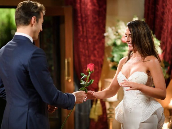 Matty J so far has been impressed with Jen, awarding her two roses since she entered the house. Source: Channel 10