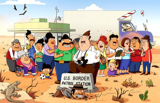 """<p><b>The 30-Second Pitch: </b>Executive produced by Seth MacFarlane and created by <i>Family Guy </i>writer Mark Hentemann, <i>Bordertown </i>is about a white border guard living next to a Mexican family. Expect to laugh and be offended at the same time.</p><p><b>Targeting the Audience: </b>That sounds like a one-note """"anti-PC"""" show, but the writing staff is one of the most diverse in TV animation. Writer Lalo Alcaraz (the cartoonist behind <i>La Cucaracha</i>) and consulting producer Gustavo Arellano (who writes the nationally syndicated <i>¡Ask a Mexican!</i> column) went on the road to screen episodes for small groups of Latinos. (They loved it, he says.) """"Our main point is to make people laugh,"""" says Arellano, """"But the issues we're talking about <i>mean</i> something. It's a show about <i>something</i>."""" <i>— Robert Chan</i></p><p><i>(Credit: Fox)</i></p>"""