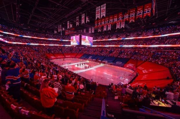 The Bell Centre is currently permitting only 3,500 spectators. They are masked, socially distanced and must stay in certain sections. (Minas Panagiotakis/Getty Images - image credit)