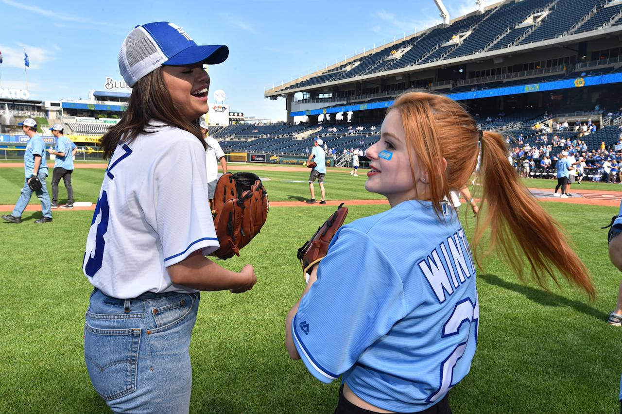 Selena Gomez Visits Fans and Competes in a Softball Game For Children's Mercy Hospital