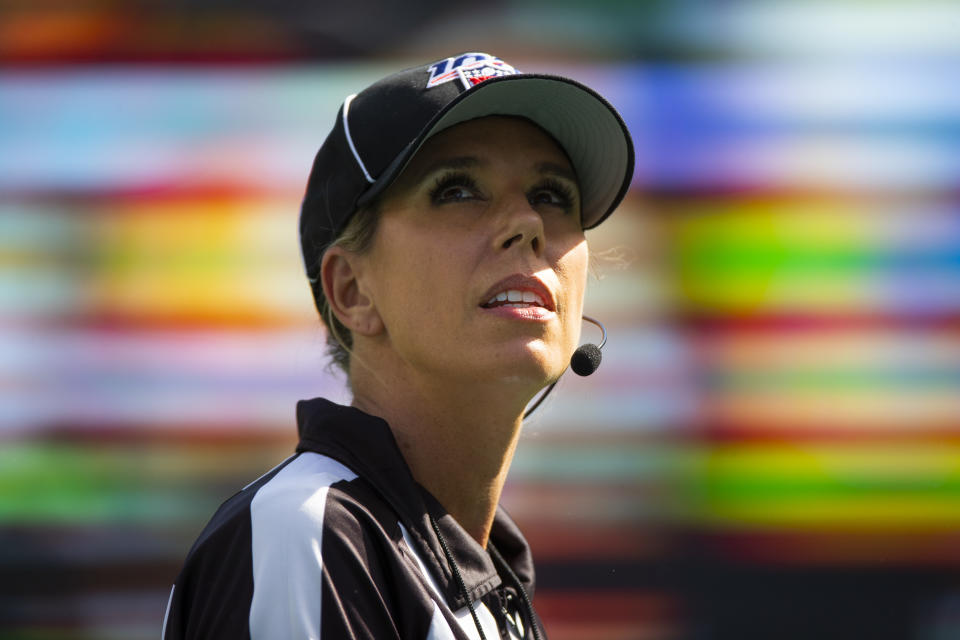 NFL official Sarah Thomas will be the first woman to work the Super Bowl.