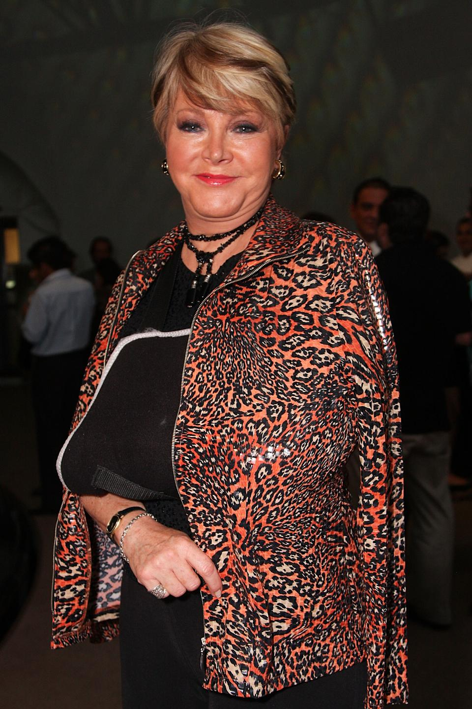 TV personality Lolita Ayala attends the Mercedes Benz Fashion Mexico Autumn/Winter 2008 at Antara Polanco on April 11, 2008 in Mexico City, Mexico. (Photo by Victor Chavez/WireImage)