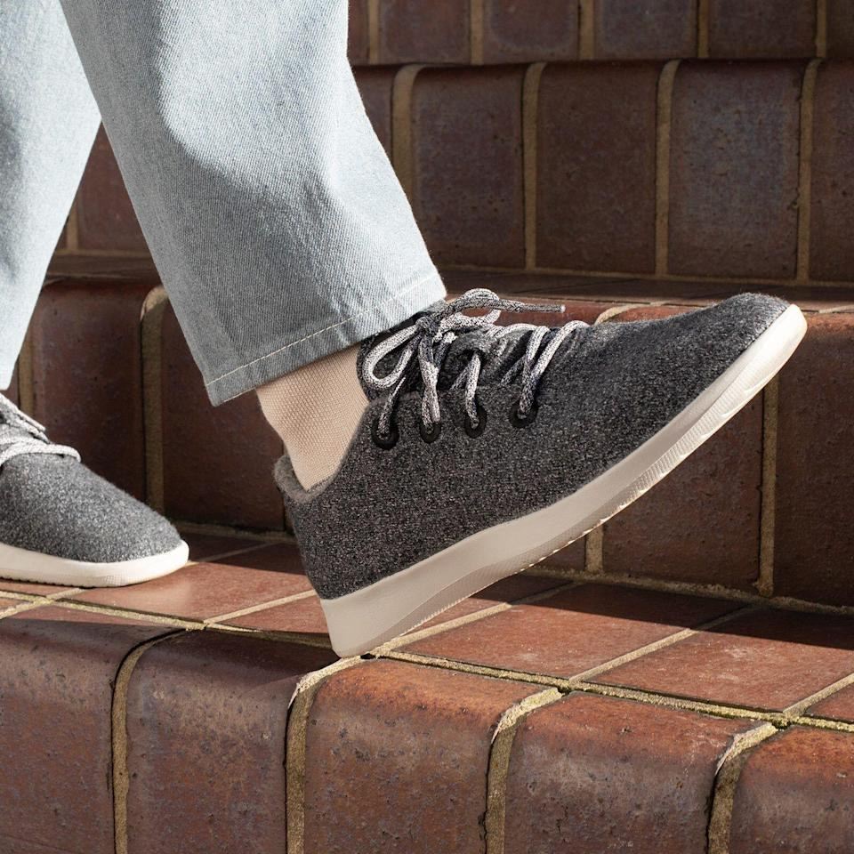 """<p><strong>Allbirds</strong></p><p>allbirds.com</p><p><strong>$95.00</strong></p><p><a href=""""https://go.redirectingat.com?id=74968X1596630&url=https%3A%2F%2Fwww.allbirds.com%2Fproducts%2Fmens-wool-runners&sref=https%3A%2F%2Fwww.womansday.com%2Flife%2Fg964%2Fgifts-for-men%2F"""" rel=""""nofollow noopener"""" target=""""_blank"""" data-ylk=""""slk:Shop Now"""" class=""""link rapid-noclick-resp"""">Shop Now</a></p><p>From running errands to hanging out with friends, these incredibly cozy merino wool sneakers (which come in tons of different color options) are just what he needs. </p>"""