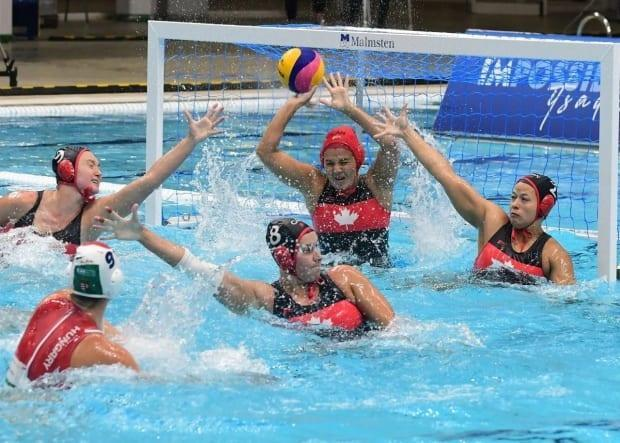 Canada's women's water polo team defeated Kazakhstan 11-3 in the quarter-finals of the World League Super Final on Thursday. (@TeamCanada/Twitter - image credit)