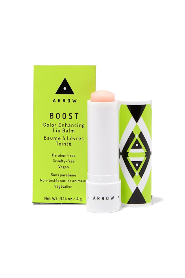 """<p><em>Arrow Boost Color Enhancing Lip Balm, $14</em><br></p><p><a rel=""""nofollow"""" href=""""https://www.birchbox.com/shop/arrow-boost-color-enhancing-lip-balm"""">BUY IT</a></p><p>When Arrow's beauty subscription service for busy-ladies-on-the-go launched a makeup line at Birchbox, this lip balm sold like gangbusters. It's designed to warm up to a rosy, natural tint by adjusting to your natural pH, and adds a subtle hint of shine, too. </p>"""