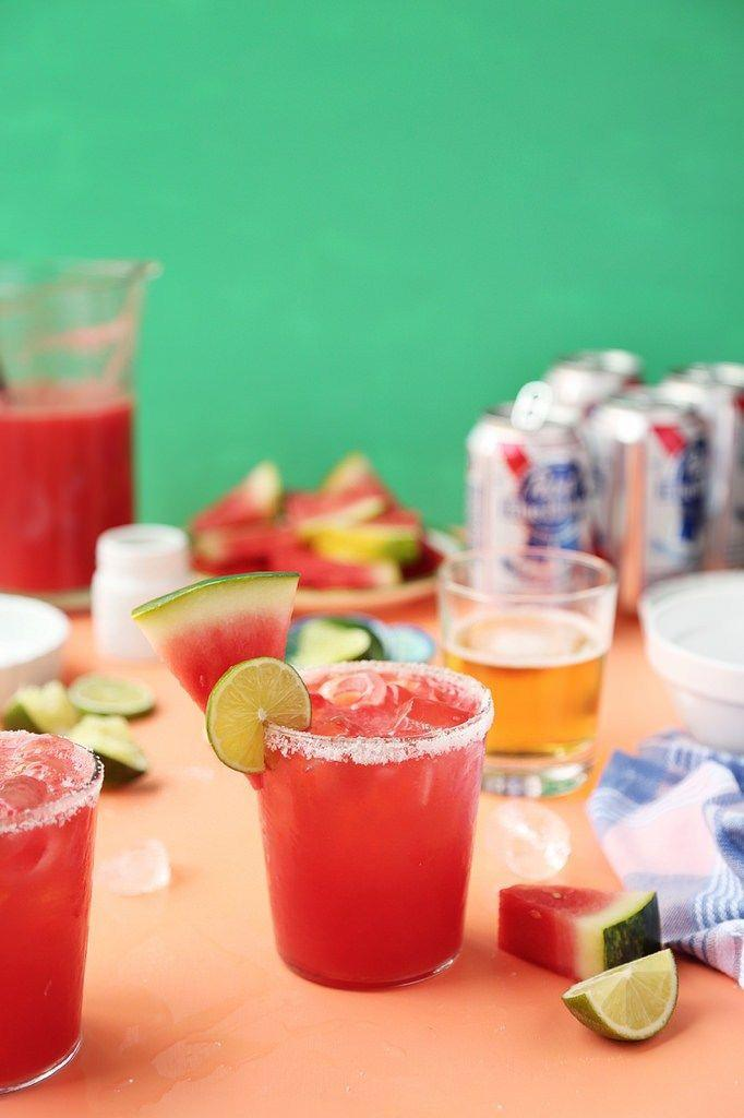 """<p>Nothing says """"America"""" like an ice-cold can of beer. That's why we're incorporating a few cold ones into a festive, fruity cocktail.</p><p><a href=""""http://www.thecandidappetite.com/2015/04/17/watermelon-texas-margarita/"""" rel=""""nofollow noopener"""" target=""""_blank"""" data-ylk=""""slk:Get the recipe from The Candid Appetite »"""" class=""""link rapid-noclick-resp""""><em>Get the recipe from The Candid Appetite »</em></a></p>"""