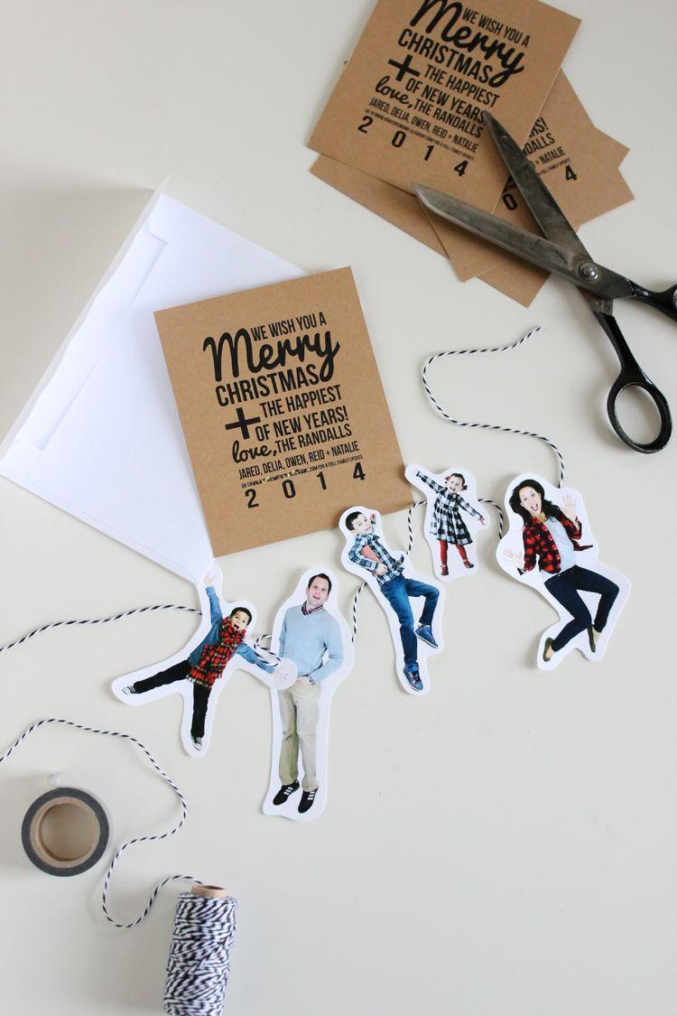 """<p>Here's a fun, quirky update to the classic family photo Christmas card. Paper doll-esque, cut-out versions of your family members make this version way more fun (and hilarious too).</p><p><strong>Get the tutorial at <a href=""""https://www.deliacreates.com/family-bunting-christmas-card/"""" rel=""""nofollow noopener"""" target=""""_blank"""" data-ylk=""""slk:Delia Creates"""" class=""""link rapid-noclick-resp"""">Delia Creates</a>.</strong></p><p><a class=""""link rapid-noclick-resp"""" href=""""https://www.amazon.com/Fujifilm-Instax-Mini-Instant-Camera/dp/B07CZ48573?tag=syn-yahoo-20&ascsubtag=%5Bartid%7C10050.g.3872%5Bsrc%7Cyahoo-us"""" rel=""""nofollow noopener"""" target=""""_blank"""" data-ylk=""""slk:SHOP INSTAX CAMERAS"""">SHOP INSTAX CAMERAS</a><strong><br></strong></p>"""