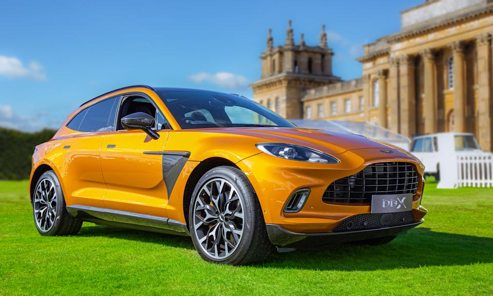 WOODSTOCK, UNITED KINDOM - SEPTEMBER 25: The Aston Martin DBX seen at Salon Prive, held at Blenheim Palace. Each year some of the rarest cars are displayed on the lawns of the palace, in the UK's most exclusive Concours d'Elegance. (Photo by Martyn Lucy/Getty Images)