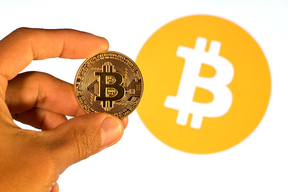 Bitcoin was up 8.2% to $54,001.77 at 8.50am in London on Tuesday. Photo: Thiago Prudêncio/SOPA/LightRocket via Getty