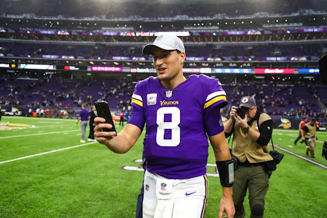 Kirk Cousins picked the Vikings over the Jets in free agency. It's something New York fans are unlikely to forget when the teams play each other on Sunday. (Getty Images)