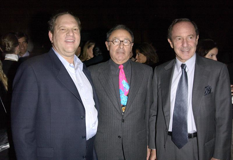 Harvey Weinstein, Peter Bart and Mort Zuckerman celebrate the release of Bart's book <i>Dangerous Company</i> at the Four Seasons Hotel in New York City.