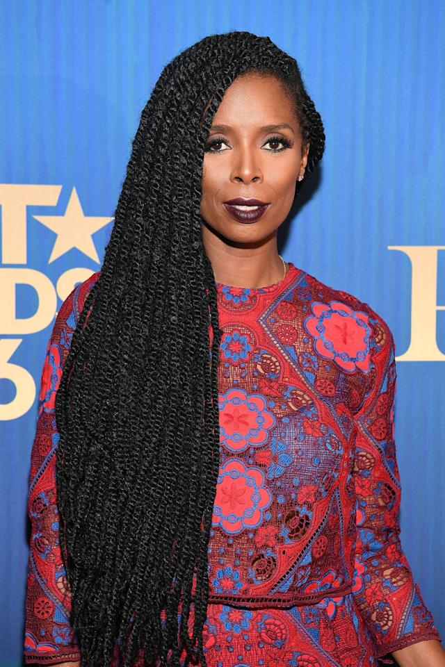 <p>When worn long and to the side like Tasha Smith's, Marley twists look uber-classy. (Photo: Paras Griffin/FilmMagic) </p>