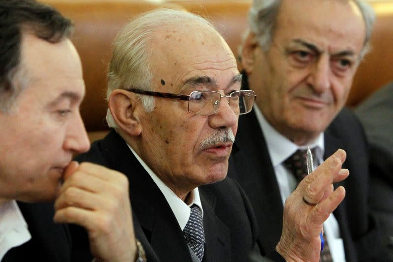FILE PHOTO: Syrian opposition leader Azim speaks during a meeting with Margelov, head of the Russian Federation Council's International Affairs Committee, in Moscow