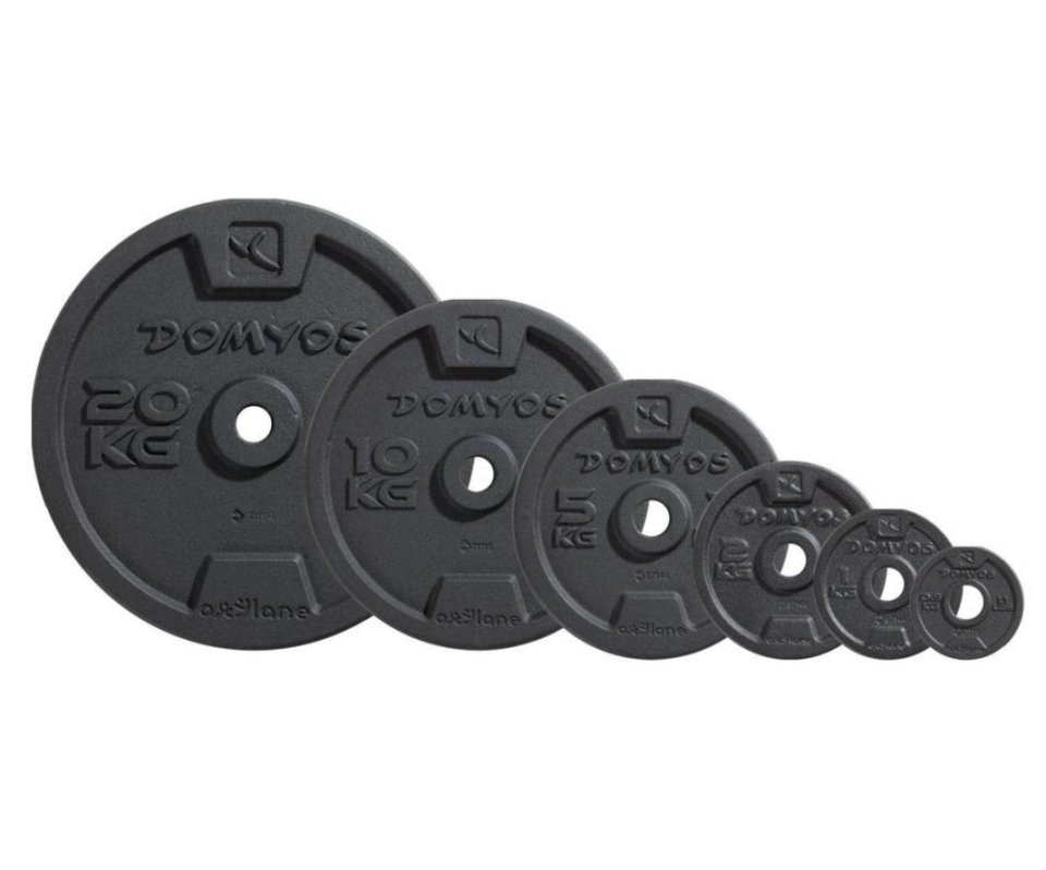 Decathlon have a full range of weight plates in stock,