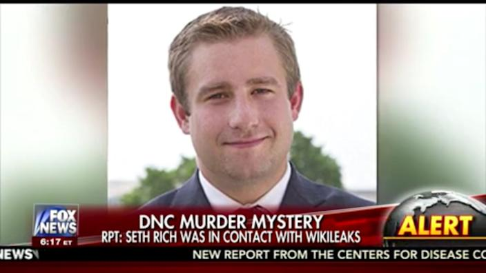 Screengrab from Fox News coverage of the death of Seth Rich.
