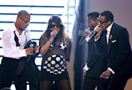 "Four of the best acts in hip-hop—Jay-Z, Kanye West, T.I. and Lil Wayne (a.k.a. the Rap Pack)—were onstage in 2009 singing ""Swagga Like Us"" in what will go down as one of the best collaborations of all time, but all we could do was focus on M.I.A., whose due date for her first child was that. very. day."