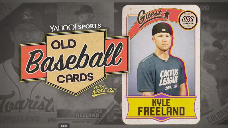 "Rockies ace Kyle Freeland talks about Sammy Sosa, Trevor Story, Mike Trout and Shohei Ohtani on ""Old Baseball Cards."" (Yahoo Sports)"