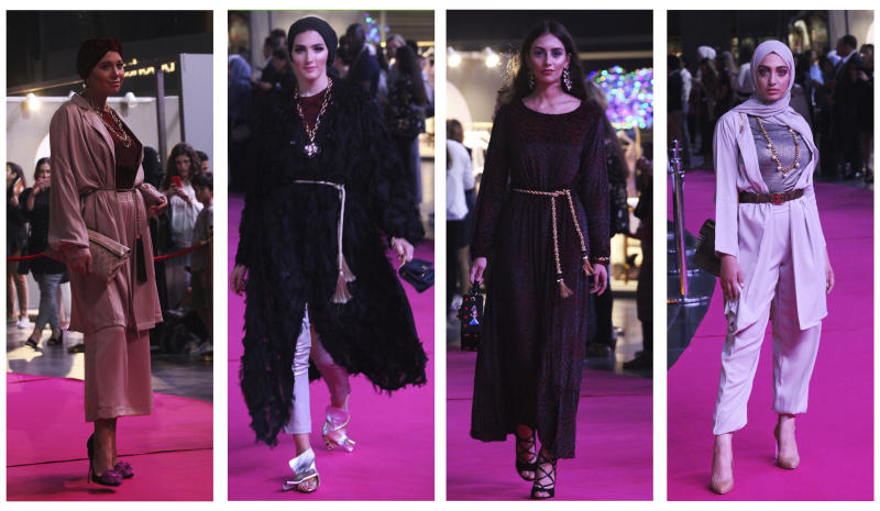Fashion show without catwalks promotes modest wear in Dubai