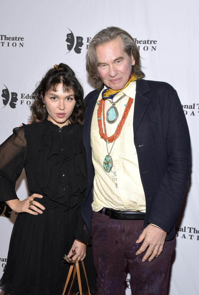 Val Kilmer and his daughter Mercedes at the 2019 annual Thespians Go Hollywood Gala at Avalon Hollywood on November 18, 2019 in Los Angeles, California.