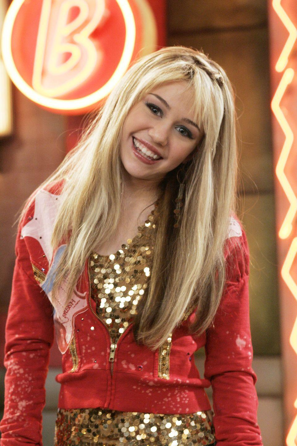 <p> As if you could forget the girl playing the title character herself. Miley Stewart was like every early 2000's teenage girl: obsessed with boys, lip gloss, and trying to sneak around behind her dad's back. Hannah Montana, though, was PEAK aspiration—her singing career, the flashy clothes, the hot guys she got to hang with on a daily basis (hello, Jonas Brothers!). She had it made. </p>