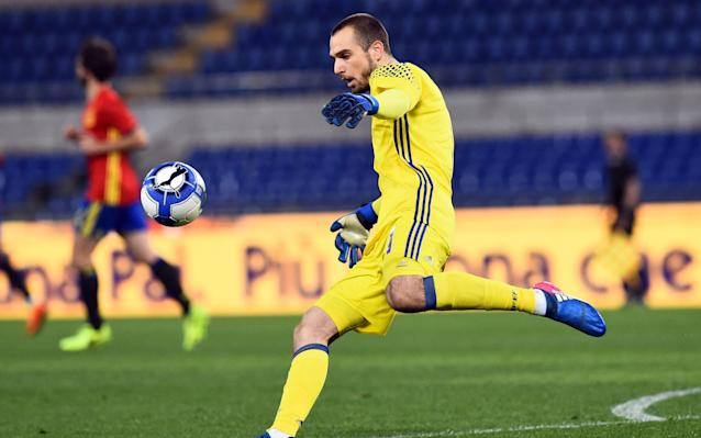 <span>Pau Lopez could make his debut for Tottenham with Hugo Lloris struggling with illness</span> <span>Credit:  SilverHub/REX/Shutterstock </span>