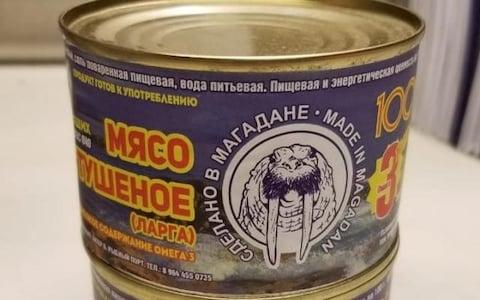 A can of spotted seal meat produced in Magadan - Credit: Vasily Borisov