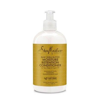 """<p><strong>SheaMoisture</strong></p><p>target.com</p><p><strong>$7.99</strong></p><p><a href=""""https://www.target.com/p/sheamoisture-raw-shea-butter-restorative-conditioner-13-fl-oz/-/A-12239241"""" rel=""""nofollow noopener"""" target=""""_blank"""" data-ylk=""""slk:Shop Now"""" class=""""link rapid-noclick-resp"""">Shop Now</a></p><p>Conditioners are a non-negotiable with 4C hair (or any curly hair for that matter). Whether you're using it to nourish stressed strands or as a detangling agent, you'll love this thick and creamy formula. It's infused with raw shea butter and argan oil to restore moisture and help knots and tangles melt away.</p>"""