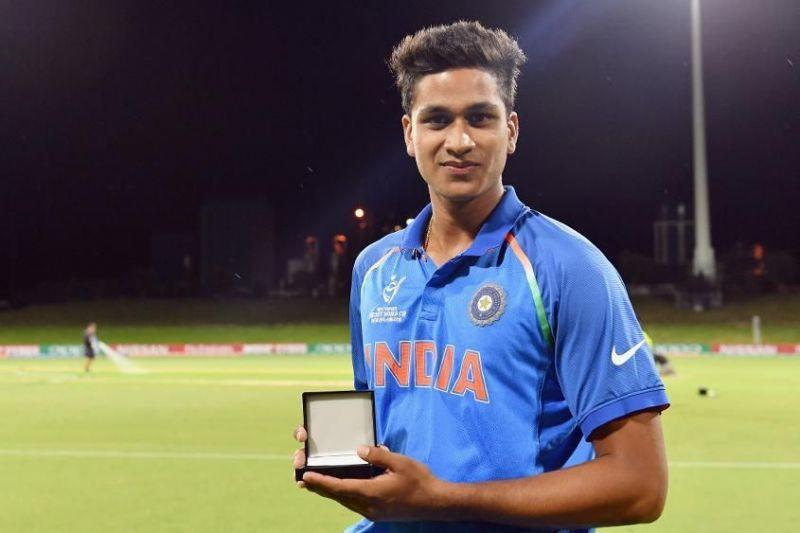 Manjot Kalra after being awarded the Man of the Match in the Finals of Under 19 World Cup