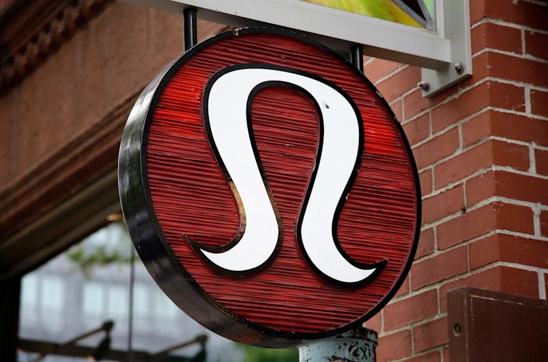 FILE - This June 5, 2017, file photo, shows a Lululemon Athletica logo outside a store on Newbury Street in Boston. Lululemon Athletica Inc. reports earnings on Thursday, May 31, 2018. (AP Photo/Steven Senne, File)