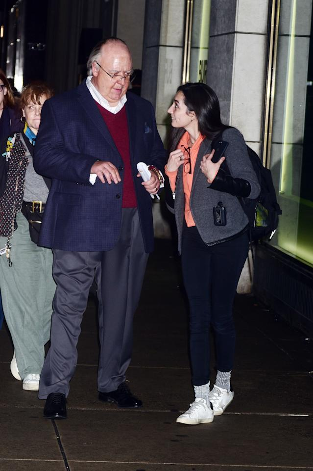 <p>He was spotted in character on Tuesday walking from his trailer to set in New York. Photo: Australscope </p>