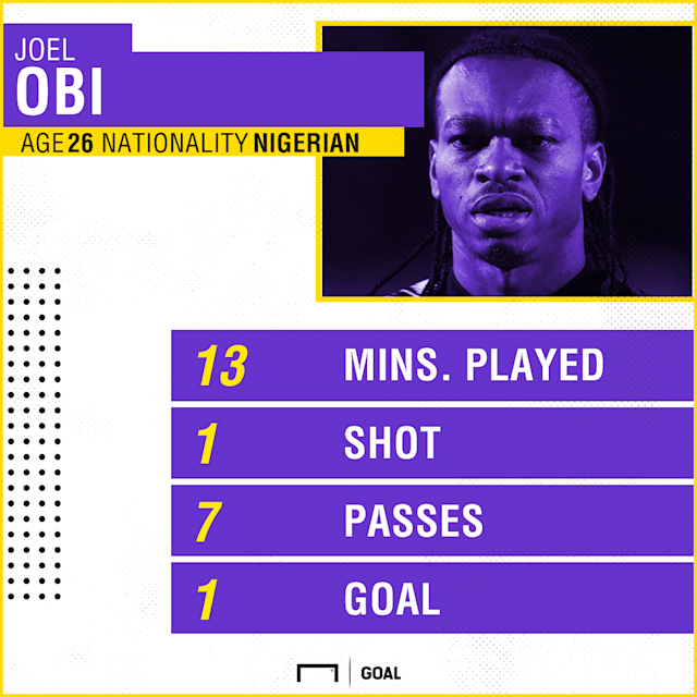 The Nigeria international came off the bench to register his name on the score sheet in the Bulls' emphatic victory