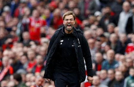 Soccer Football - Premier League - Manchester United vs Liverpool - Old Trafford, Manchester, Britain - March 10, 2018 Liverpool manager Juergen Klopp Action Images via Reuters/Jason Cairnduff