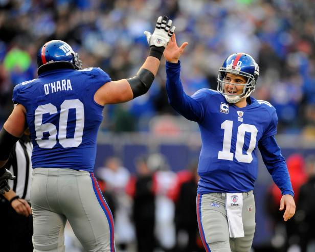 Eli Manning has been on Twitter less than a week and he's already smoking former teammates' golf games