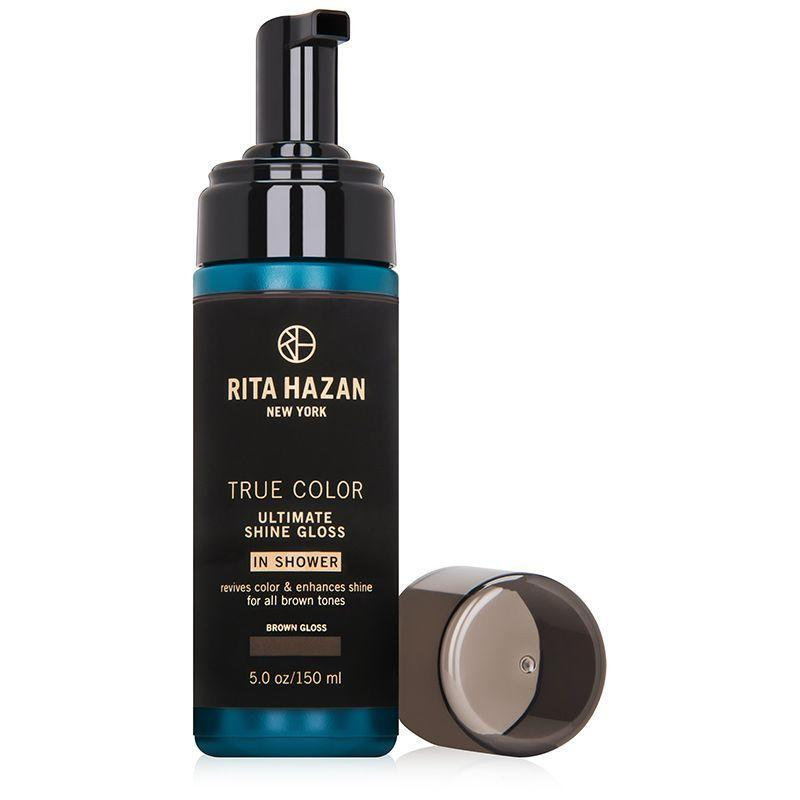 "<p><strong>Rita Hazan</strong></p><p>dermstore.com</p><p><strong>$26.00</strong></p><p><a href=""https://go.redirectingat.com?id=74968X1596630&url=https%3A%2F%2Fwww.dermstore.com%2Fproduct_True%2BColor%2BUltimate%2BShine%2BGloss%2B%2BBrown_59007.htm&sref=https%3A%2F%2Fwww.marieclaire.com%2Fbeauty%2Fhair%2Fg36039186%2Fbest-hair-gloss%2F"" rel=""nofollow noopener"" target=""_blank"" data-ylk=""slk:SHOP IT"" class=""link rapid-noclick-resp"">SHOP IT</a></p><p>Just the right amount of dye—there are formulas for brown, blonde, and red strands—is delivered alongside smoothing castor oil and coconut fatty acids in a satisfying mousse formula. Work a palmful of foam into damp strands and set a timer for five minutes. NB: It's gentle enough to use up to three times a week. </p>"