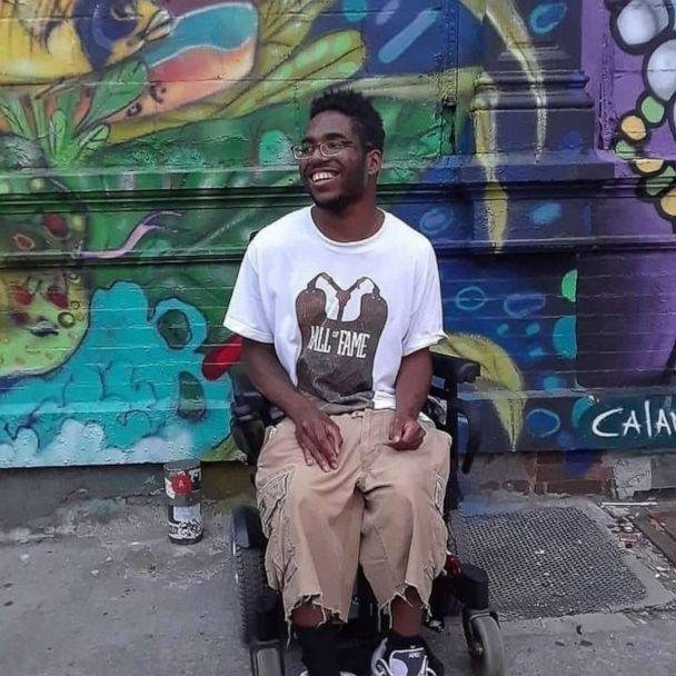 """PHOTO: Greaves, who has cerebral palsy, said he hopes to """"continue the positive message"""" his viral dancing video started. (Jermaine Greaves)"""