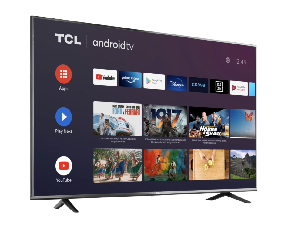 "TCL 4-Series 55"" 4K UHD HDR LED Android Smart TV - on sale $400 (originally $550)."