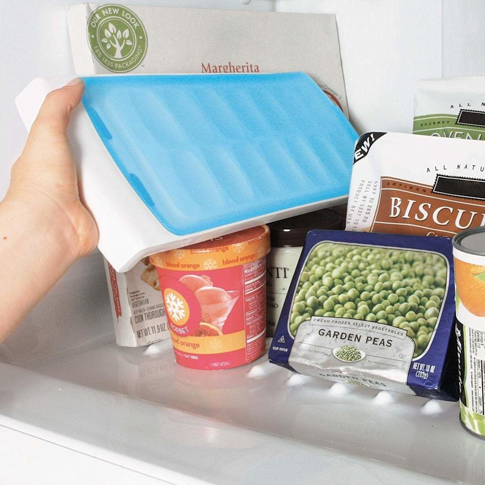 """Now your ice will never absorb any freezer odors. Plus, you won't have to worry about spilling any water after you refill it!<br /><br /><strong>Promising review:</strong>""""I absolutely LOVE ice cubes in my drinks, and it's so annoying to have ice cube problems. I really researched ice cube trays and read a lot of reviews until I found these trays.<strong>It's so nice not to have to worry about spilling water just trying to get them in there. Also, they come out of the tray so easily! No more fighting to get the cubes out.</strong>These just kind of pop out when you press down on one side."""" —<a href=""""https://www.amazon.com/dp/B007U256D2?tag=huffpost-bfsyndication-20&ascsubtag=5833640%2C13%2C43%2Cd%2C0%2C0%2C0%2C962%3A1%3B901%3A2%3B900%3A2%3B974%3A3%3B975%3A2%3B982%3A2%2C16261721%2C0"""" target=""""_blank"""" rel=""""noopener noreferrer"""">Kalisa</a><br /><strong>Get it from Amazon for<a href=""""https://www.amazon.com/dp/B007U256D2?tag=huffpost-bfsyndication-20&ascsubtag=5833640%2C13%2C43%2Cd%2C0%2C0%2C0%2C962%3A1%3B901%3A2%3B900%3A2%3B974%3A3%3B975%3A2%3B982%3A2%2C16261721%2C0"""" target=""""_blank"""" rel=""""noopener noreferrer"""">$9.99</a>.</strong>"""