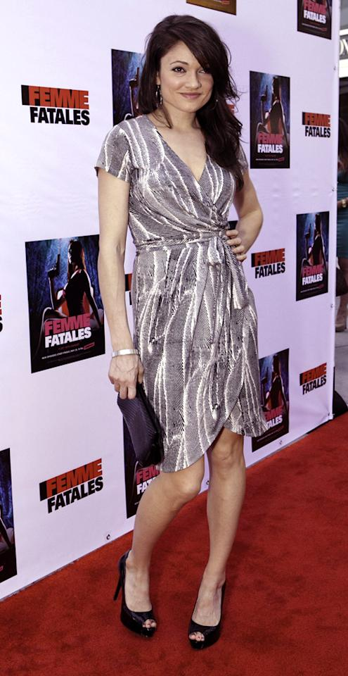 """Janelle Guimarra attends Cinemax's New Series """"Femme Fatales"""" - Cast & Crew Screening at ArcLight Hollywood on May 21, 2012 in Hollywood, California."""